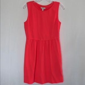 J. Crew Camille Sleeveless Dress Neon Pink Small